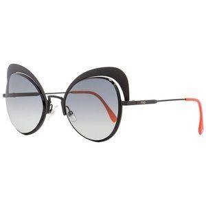 Fendi Eyeshine Black CatEye Sunglasses FF 0247 807